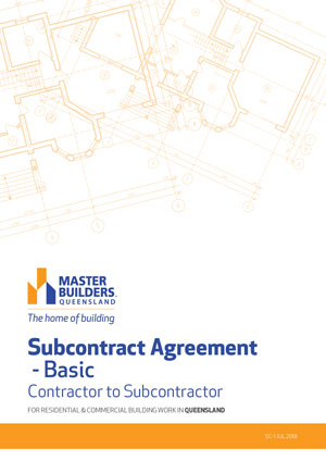 Subcontract Agreement Basic cover