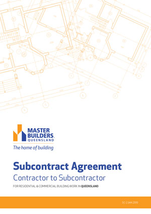 Subcontract agreement cover