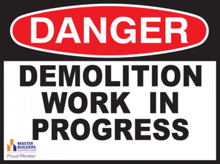 Danger signs   Master Builders Queensland